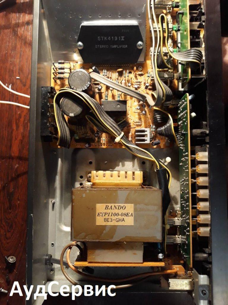 Ремонт усилителя JVC AX-22, замена STK4191