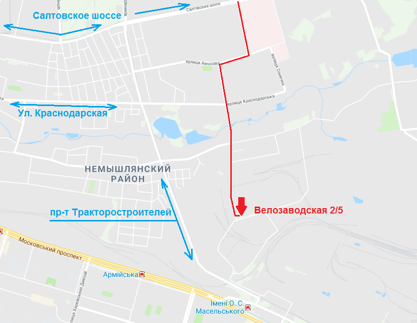 АудСервис на карте Харькова