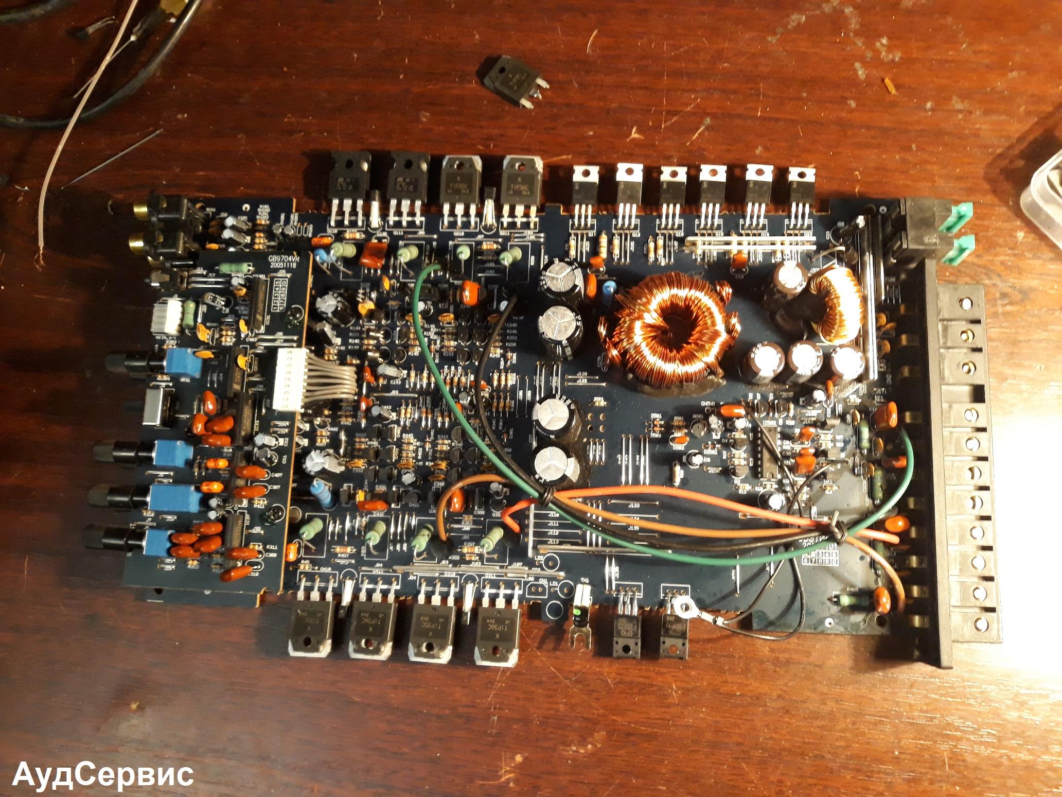 Ремонт автоусилителя Blaupunkt GTA-475