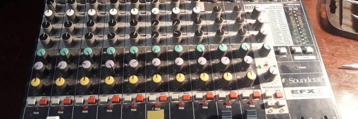 Ремонт микшерного пульта Soundcraft EFX8