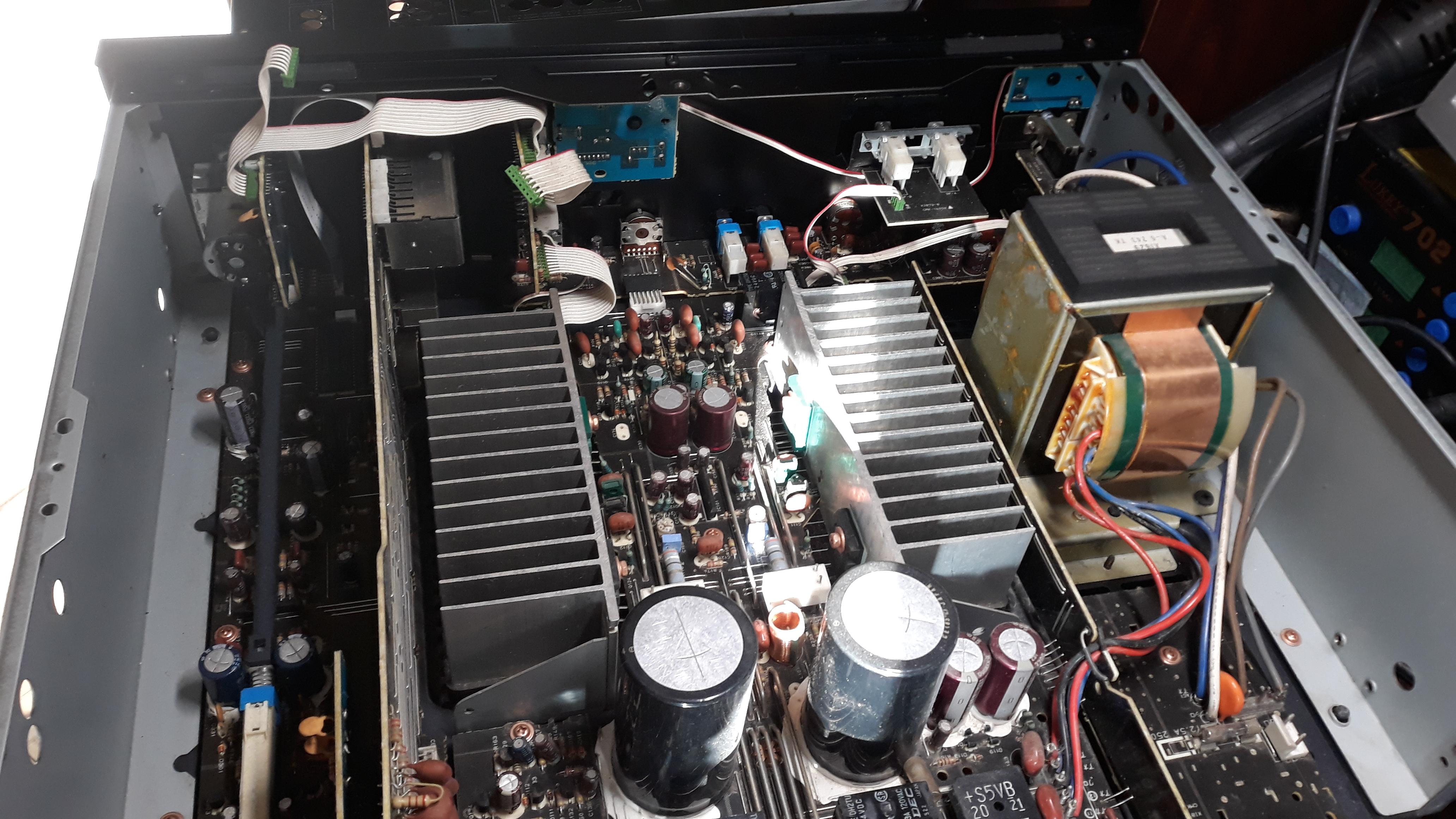 Ремонт моторизированного селектора входов в усилителе Yamaha AX-550