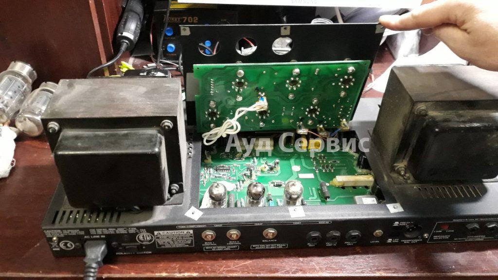 Ремонт мощного лампового усилителя Ampeq SVT-VR