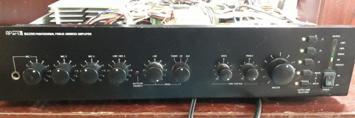 Ремонт трансляционного усилителя Apart MA 200